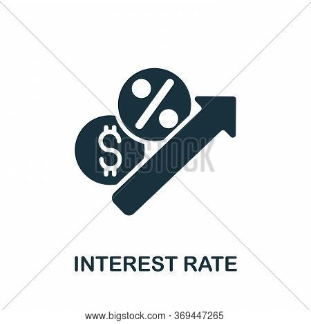 Interest Rate Icon. Simple Element From Banking Collection. Creative Interest Rate Icon For Web Desi
