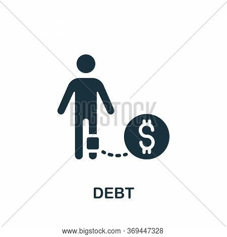 Debt Icon. Simple Element From Banking Collection. Creative Debt Icon For Web Design, Templates, Inf