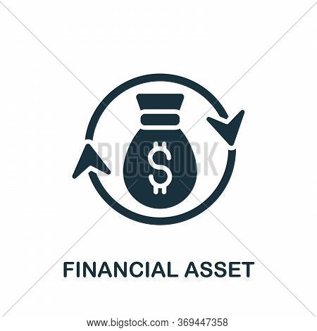 Financial Asset Icon. Simple Element From Banking Collection. Creative Financial Asset Icon For Web