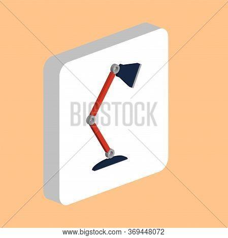 Table Lamp Simple Vector Icon. Illustration Symbol Design Template For Web Mobile Ui Element. Perfec
