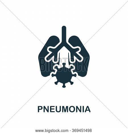 Pneumonia Icon. Simple Element From Coronavirus Collection. Creative Pneumonia Icon For Web Design,