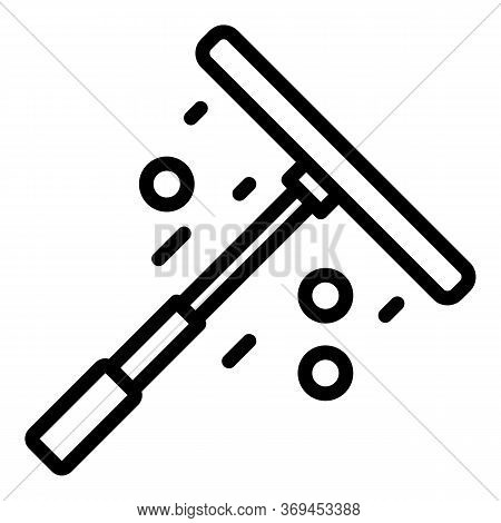Croupier Tool Icon. Outline Croupier Tool Vector Icon For Web Design Isolated On White Background
