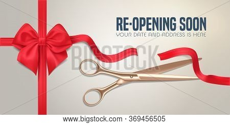Grand Opening Or Re Opening Vector Illustration, Banner.