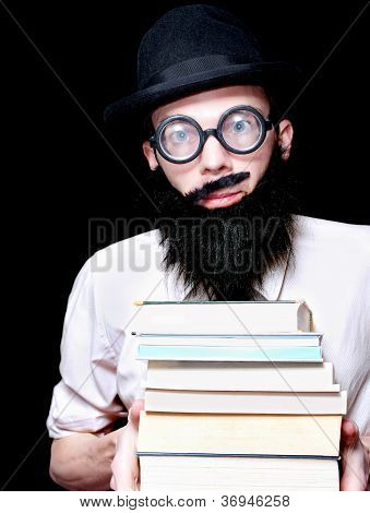 University Lecturer Holding Education Text Books