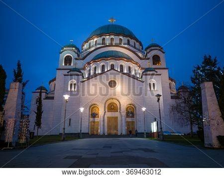 Belgrade / Serbia - February 7, 2020: Church Of Saint Sava Or Saint Sava Temple  (hram Svetog Save)
