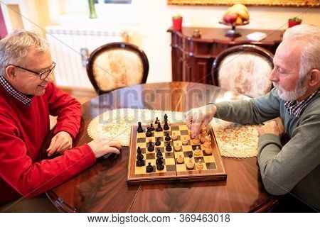 Tied Chess Game Between Two Old Friends