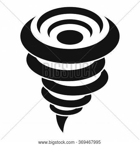 Whirlwind Tornado Icon. Simple Illustration Of Whirlwind Tornado Vector Icon For Web Design Isolated