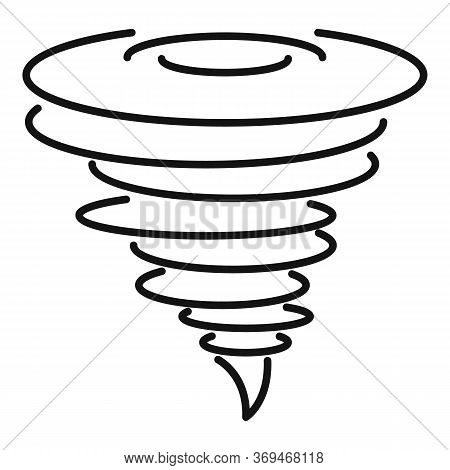 Tornado Icon. Outline Tornado Vector Icon For Web Design Isolated On White Background