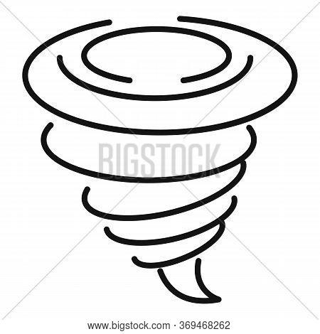 Cyclone Tornado Icon. Outline Cyclone Tornado Vector Icon For Web Design Isolated On White Backgroun