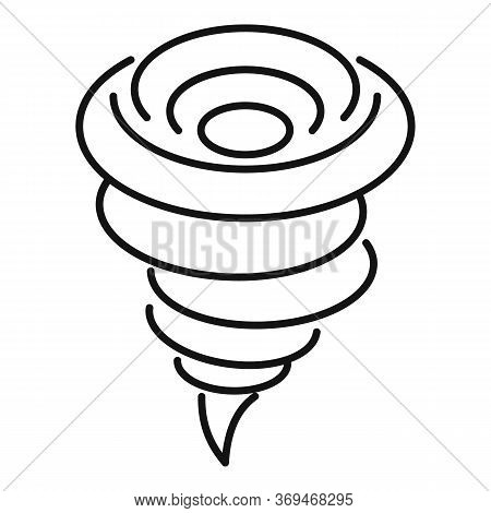 Whirlwind Tornado Icon. Outline Whirlwind Tornado Vector Icon For Web Design Isolated On White Backg