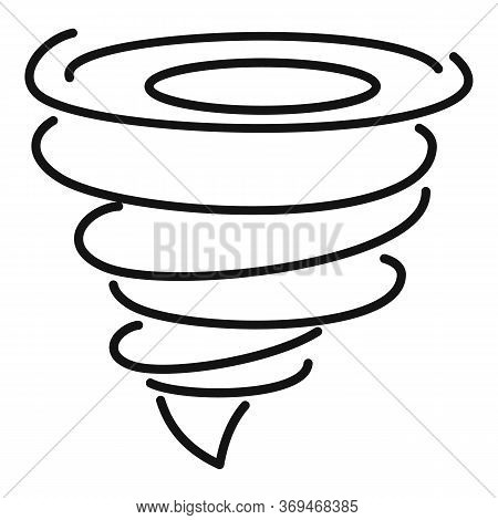 Power Tornado Icon. Outline Power Tornado Vector Icon For Web Design Isolated On White Background