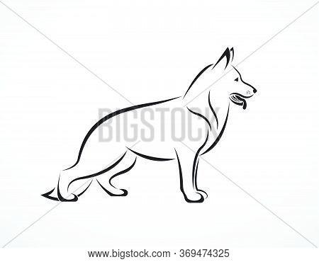 Vector Of German Shepherd Dog On White Background. Pet. Animals. Easy Editable Layered Vector Illust