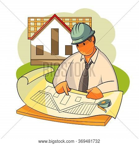 A Construction Engineer Is Considering A House Project. Roofing Of Roofs