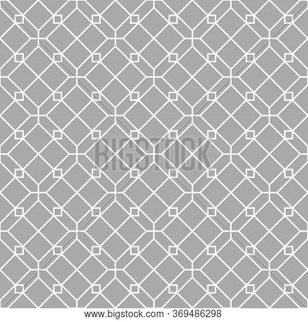 Geometric Seamless Pattern. Black And White Decorative Background. Backdrop For Cover, Wallpaper, Te