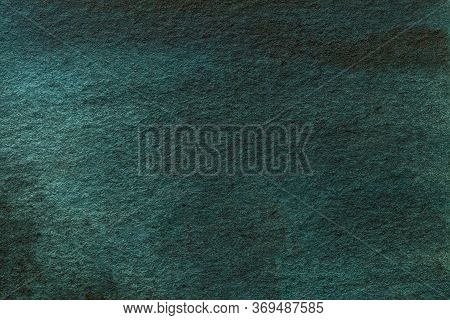Abstract Art Background Dark Green Colors. Watercolor Painting On Canvas With Emerald Gradient. Frag