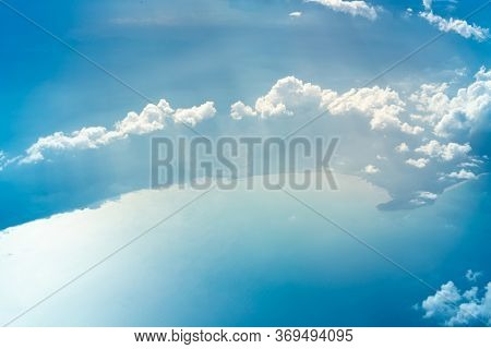 Blue sky background. White Cloud in blue sky.