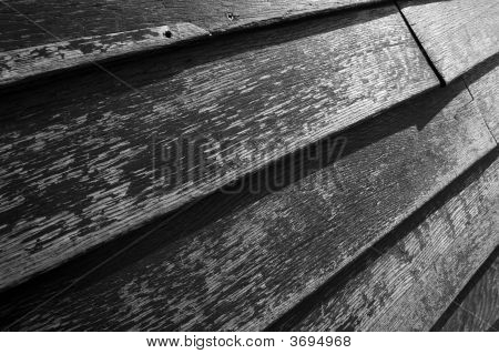 Old wood texture in black and white poster
