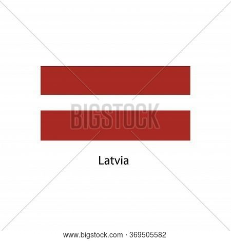Latvia Flag. Official Colors And Proportion Correctly. National Flag Of Latvia. Latvia Flag Vector I