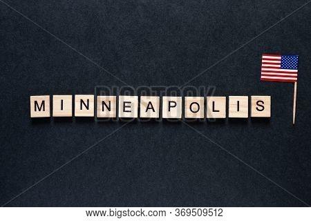 Minneapolis Usa May, June 2020. Unrest. Rallies. Brigandage. Marauders. Looting. Pogroms