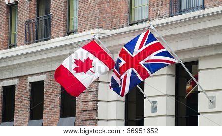 Canada Britain Flags