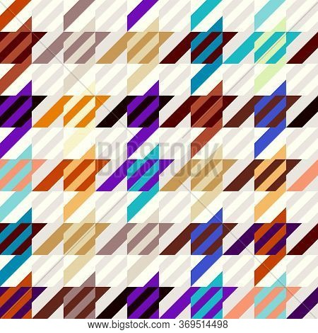 Seamless Geometric Pattern. Hounds-tooth Pattern In Patchwork Style. Vector Image.