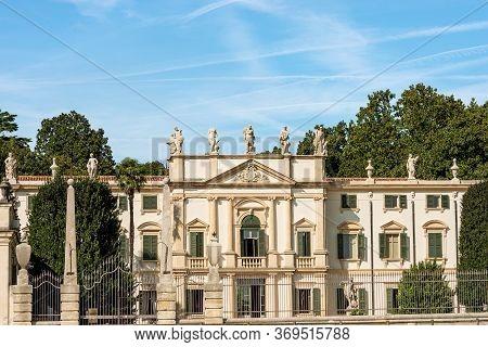 Arbizzano Di Negrar, Verona, Italy - Aug 29, 2014: Villa Mosconi Bertani Also Known As Villa Novare.