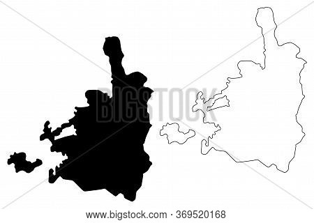 Jerusalem City (state Of Israel, Palestine) Map Vector Illustration, Scribble Sketch City Of Jerusal