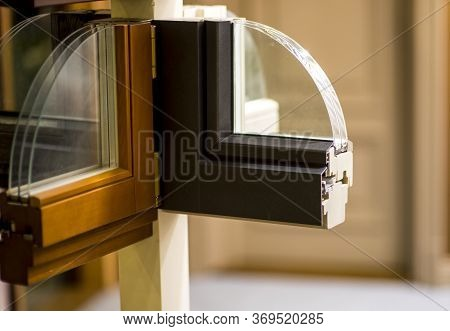 Cutaway Model Of A Plastic And Wooden Window Frame