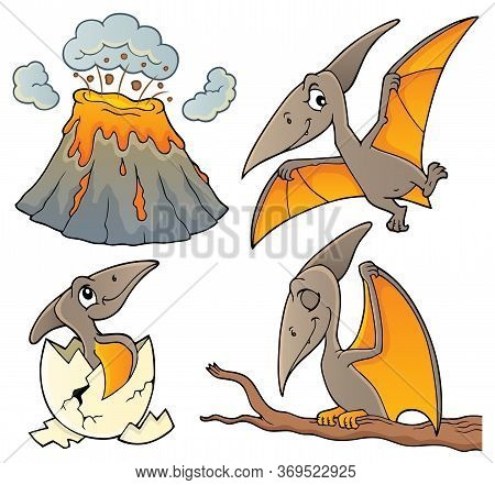 Pterodactyls Theme Set 1 - Eps10 Vector Picture Illustration.