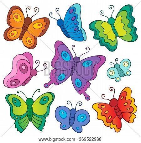 Various Butterflies Theme Set 1 - Eps10 Vector Picture Illustration.