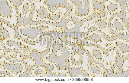 Orange Repeated Repeat Graphic Wallpaper. Grunge Abstract Gold Seamless Point Vector Marble. Golden