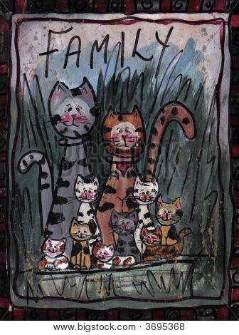 Sign Family Of Kitties