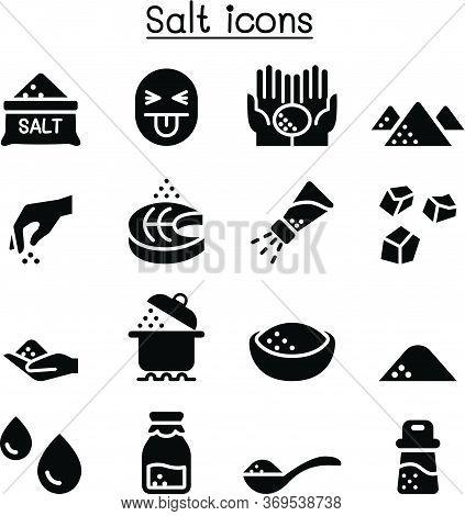 Salt Icon Set Vector Illustration Graphic Design Vector Illustration Graphic Design