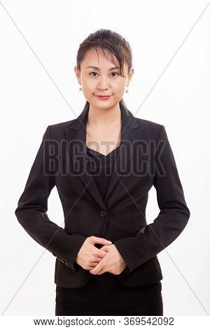 Asian Businesswoman Looking At Camera