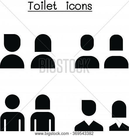 Toilet, Restroom, Wc Icon Set Vector Illustration Graphic Design
