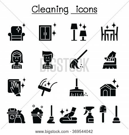 Cleaning & Hygiene Icon Set Vector Illustration Graphic Design