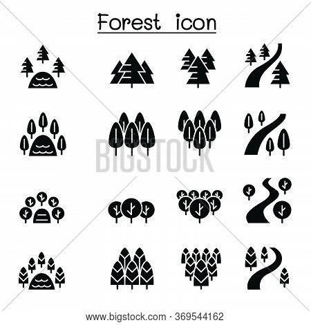 Park & Landscape Icon Set Vector Illustration Graphic Design