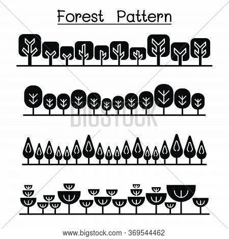 Forest Pattern, Forest Background, Landscape Vector Illustration Graphic Design