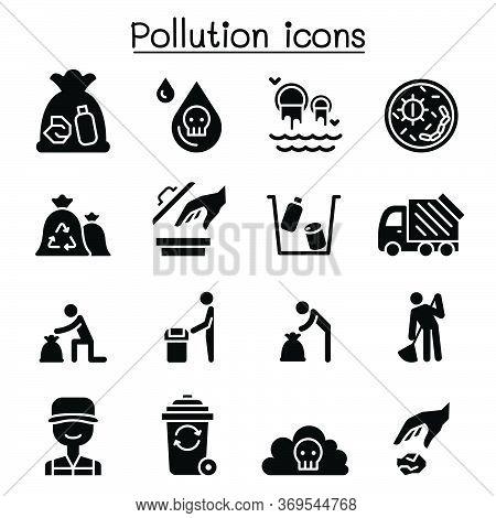 Pollution Icon Set Vector Illustration Graphic Design