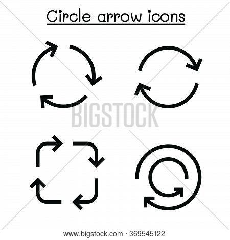 Circle Arrow Icon Set Vector Illustration Graphic Design