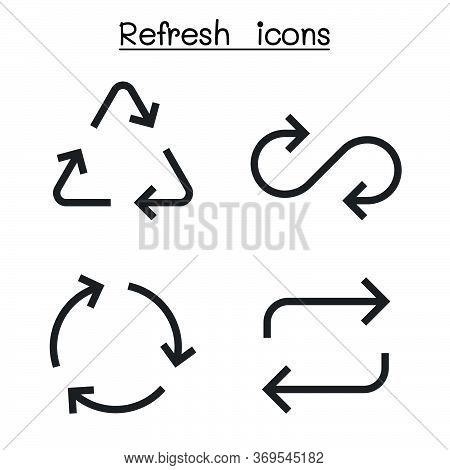 Refresh Icon Set In Sharp Corner Style Vector Illustration Graphic Design