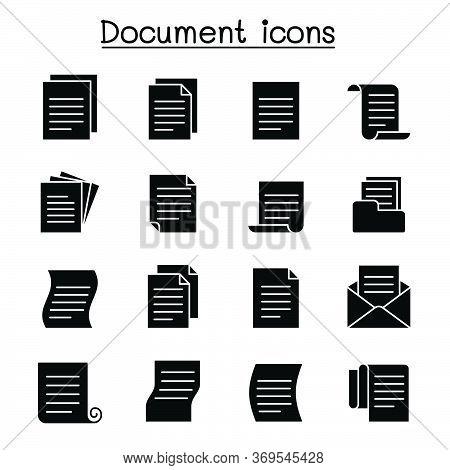 Document & File Icon Set Vector Illustration Graphic Design