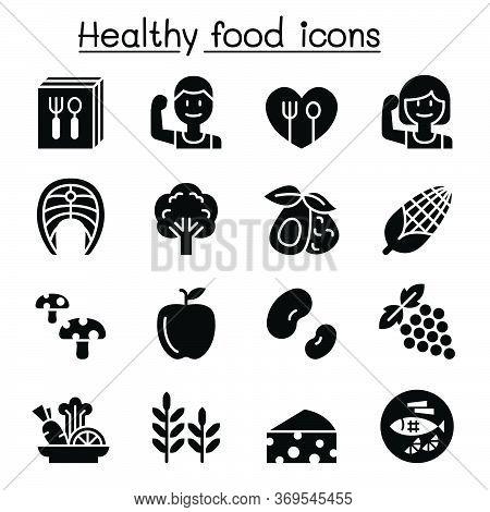 Healthy Food Icon Set Vector Illustration Graphic Design