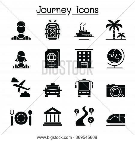 Travel & Tourism Icon Set Vector Illustration Graphic Design
