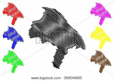 Mainz City (federal Republic Of Germany, Rhineland-palatinate) Map Vector Illustration, Scribble Ske