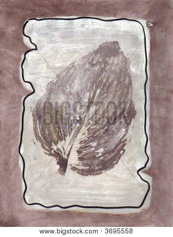 Art Taupe Leaf