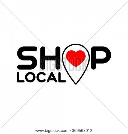 Local shop. Symbol of local production, shops. Template for poster, banner, signboard, web, card, sticker. Made locally.