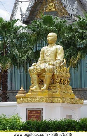 Uthai Thani Province, Thailand - August, 2016: Statue Near  Wat Tha Sung Castle - Uthai Thani, Thail