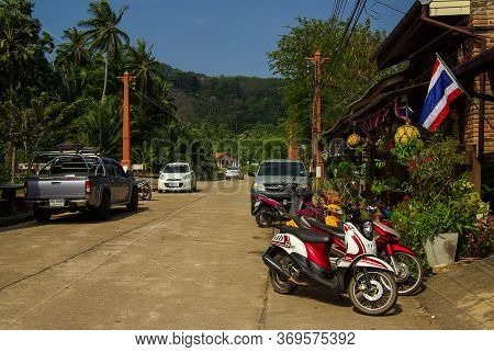 Koh Lanta, Thailand - January, 2014: Traditional Village In Ko Lanta, Thailand