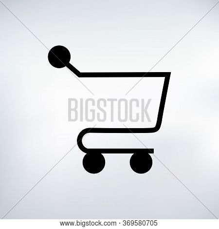 Shopping Cart Icon. Vector Shopping Cart Icon. Shopping Cart Illustration For Web, Mobile Apps. Shop